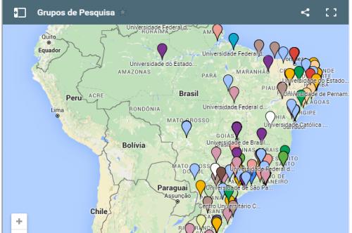Mapa dos grupos de pesquisa em participação social