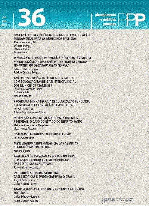 Visualizar n. 36 (2011): PLANEJAMENTO E POLÍTICAS PÚBLICAS - PPP